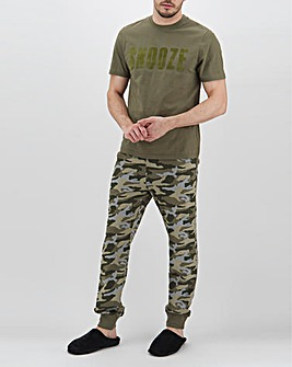 Camo Snooze Long PJ Bottoms Set