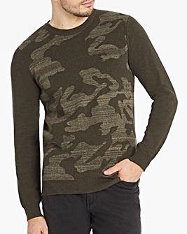 Camouflage Crew Neck Jumper