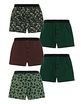 Pack of 5 Floral Loose Fit Boxers