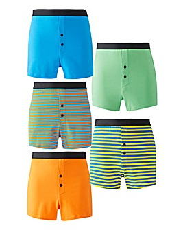 Pack of 5 Stripe Loose Fit Boxers