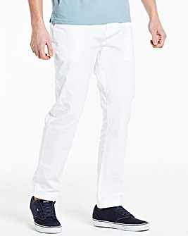 White Stretch Tapered Chino 31 Inch