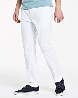 White Stretch Tapered Chino 29in