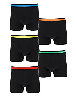 Pack of 5 Black Multi Hipsters