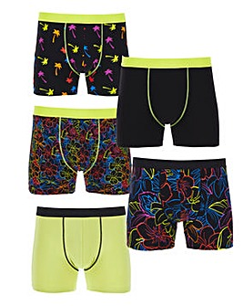 Pack of 5 Neon Mix Hipsters
