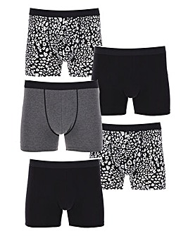 Pack of 5 Animal Print Hipsters