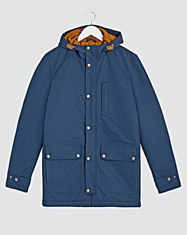 Navy Hooded Fleece Lined Jacket