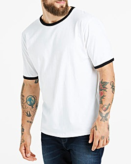White Ringer Crew neck T-shirt