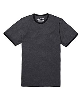 Black Ringer Crew T-shirt Long