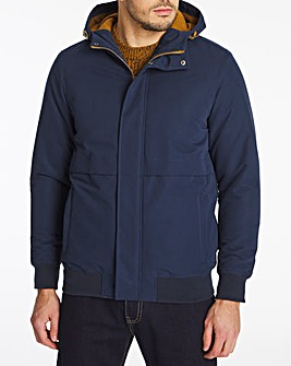 Navy Hooded Fleece Lined Bomber