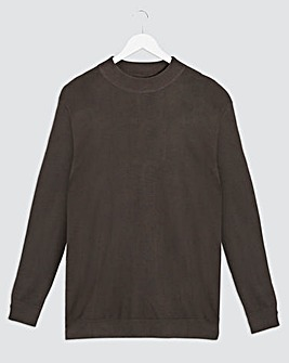 Charcoal Long Sleeve High Neck Jumper