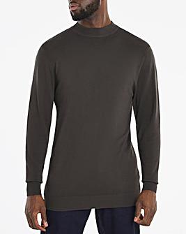 Charcoal Long Sleeve Turtleneck Jumper