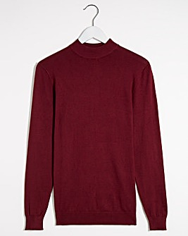 Wine Long Sleev Turtleneck Jumper