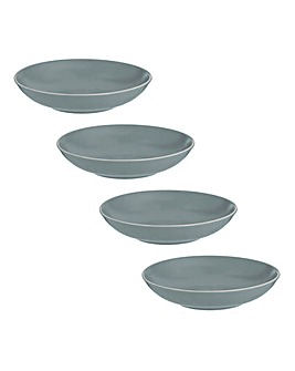 Classic Collection 4 Grey Pasta Bowls