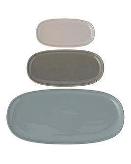 World Foods Set of 3 Serving Platters