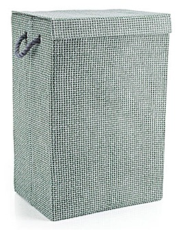 Minky Check Laundry Hamper