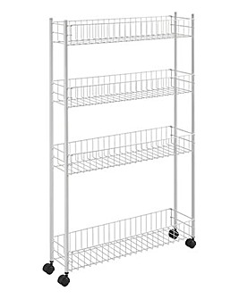 Metaltex Extra Slim Storage Trolley