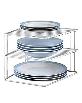 Metaltex 3 Tier Corner Plate Rack