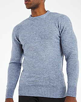 Blue Fluffy Recycled Knit Jumper