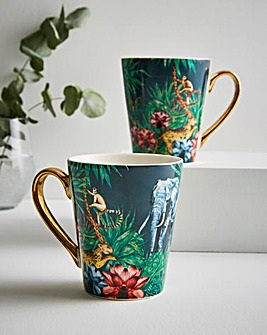 Joe Browns Luxurious Set of 2 Mugs
