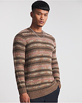 Red Injection Yarn Knitted Jumper