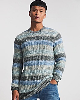 Blue Injection Yarn Knitted Jumper
