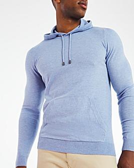 Blue Lightweight Knitted Hoody