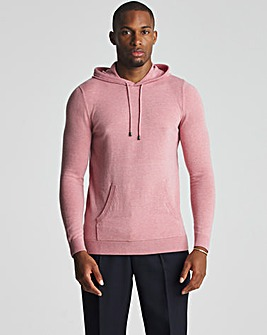 Raspberry Lightweight Knitted Hoody