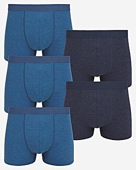 5 Pack Hipster Shorts Melange Mix