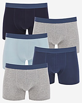 5 Pack Hipster Shorts Blue