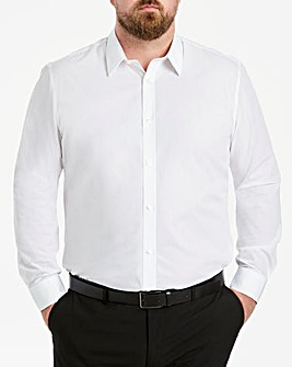 White Long Sleeve Forward Point Shirt