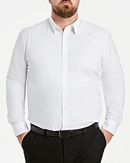 White Long Sleeve Stretch Shirt Long