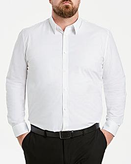 White Long Sleeve Stretch Shirt Long