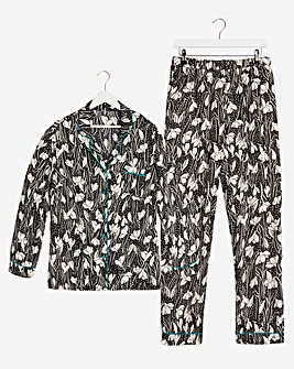 Pretty Secrets Satin Button Pyjama Set