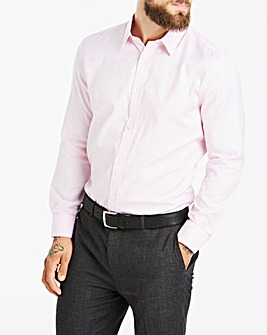 Pink Long Sleeve Forward Point Collar Shirt Regular