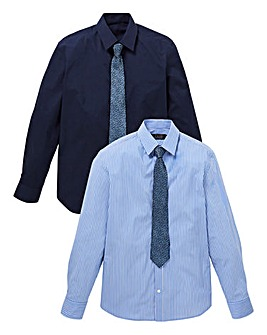 W&B London Pack of 2 Shirts & Tie R