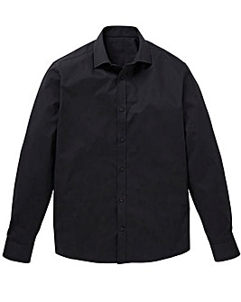 Black Long Sleeve Cutaway Shirt