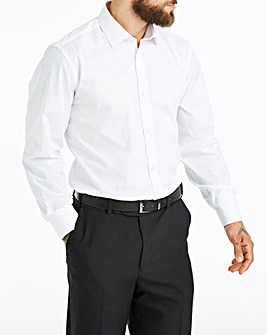 White Long Sleeve Cutaway Shirt Long