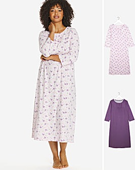 Pretty Secrets Pk 2 3/4 Sleeve Nighties