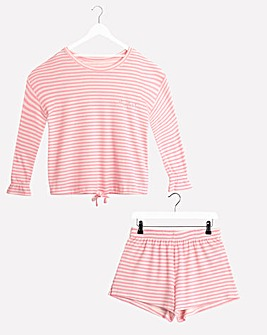 Pretty Secrets Stripe Shortie Set