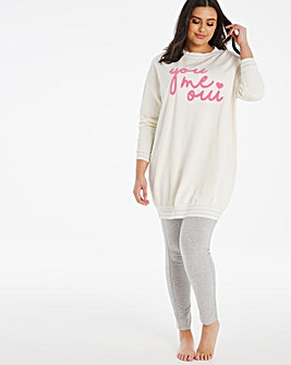 Pretty Secrets Lurex Sweat and Legging
