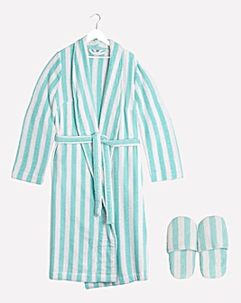 Value Towelling Gown and Slippers