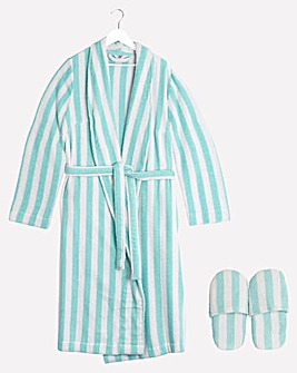 Pretty Secrets Value Towelling Gown and Slippers