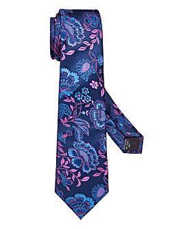 Capsule Navy Floral Tie