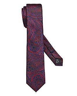 Capsule Red Paisley Tie