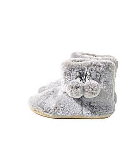 Monsoon Faux Fur Slipper Boots