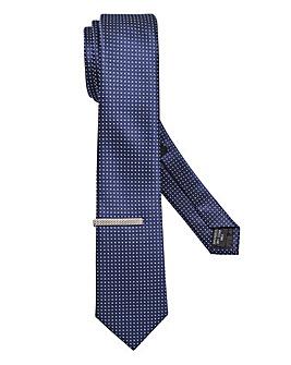 Capsule Polkadot Tie & Clip Set