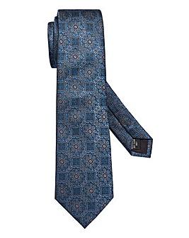 Capsule Teal Print Tie