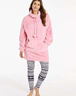 Pretty Secrets Borg Cowl Neck Hoodie Set