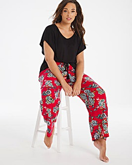 Pretty Secrets Shirred Viscose Top and Trouser Set