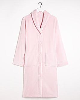 Pretty Secrets Button Fleece Gown L48
